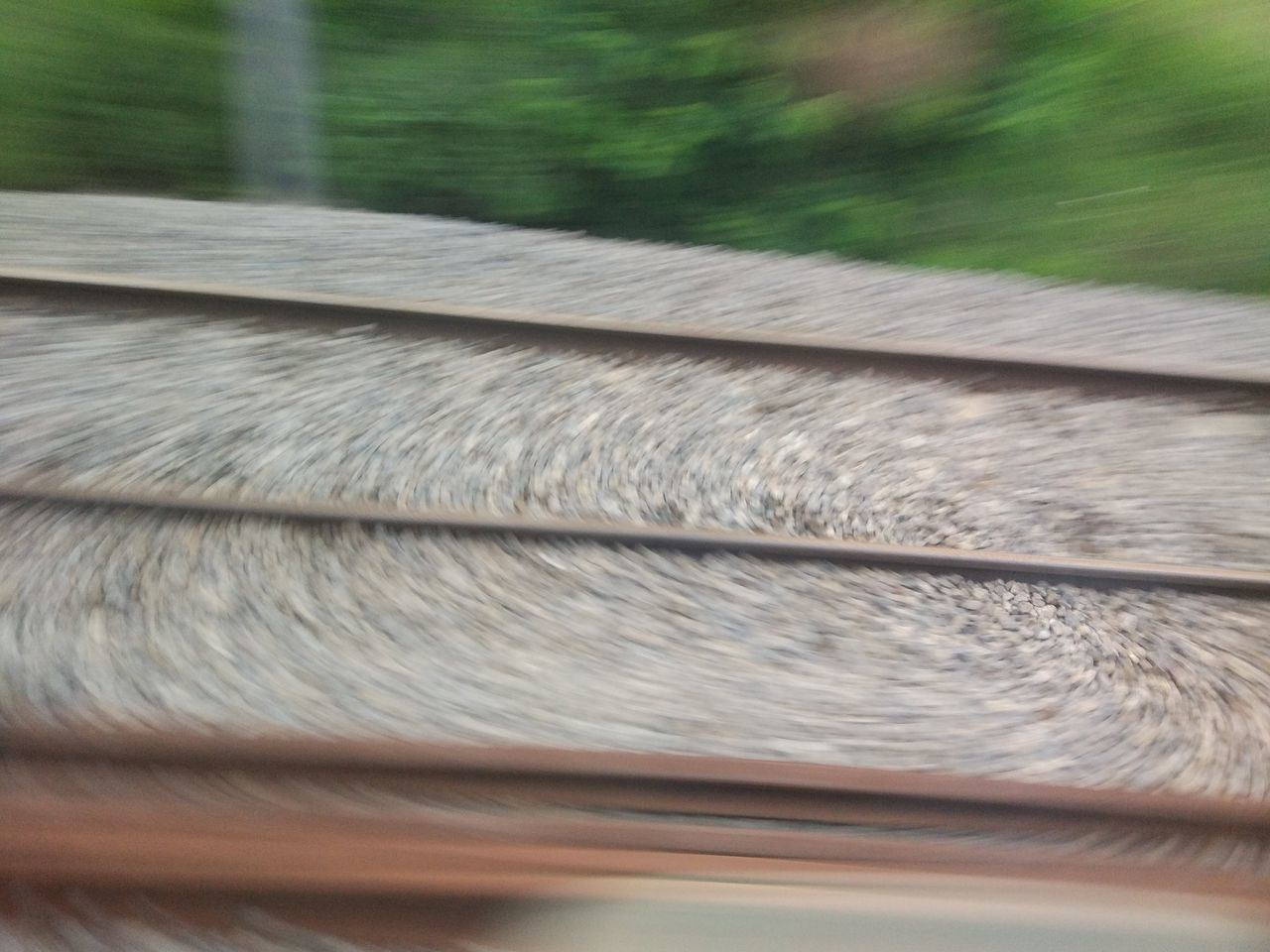 Blurred Motion Close-up Day EyeEmNewHere Focus Metal Motion Moving No People Outdoors Railroad Track Railway Railway Track Rusty Stones Stones And Pebbles
