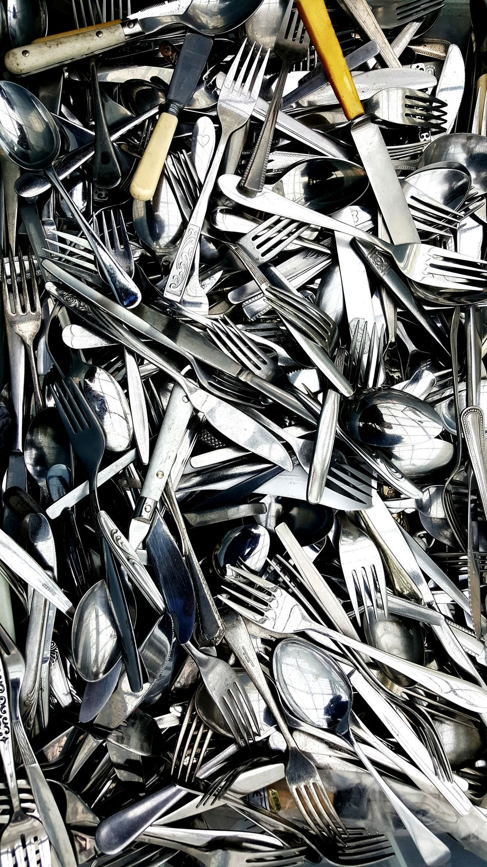 Abundance Large Group Of Objects Close-up Backgrounds Cutlery Cutlery Decoration Knives And Forks Background Background Texture Spoons Shiny Things Silver  Metal Shiny