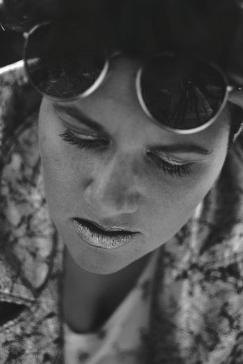 Close up silver face. Close-up Young Adult Human Face Handsome Black And White Self Portrait Portrait Of A Woman Lipstick Focus On Foreground Makeup Fashion Girl Power Monochrome_Photography Lieblingsteil Women Around The World Art Is Everywhere The Portraitist - 2017 EyeEm Awards