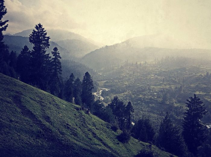 Village Kashmir Beauty Kashmir Dodhpathri Picnic IPhoneography TreePorn Mountain Cloud - Sky Nature_collection