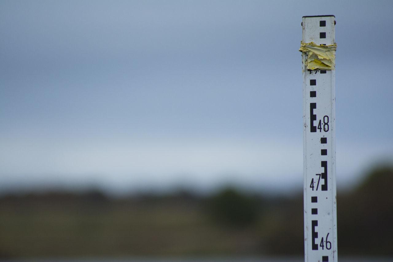 Water Meter Against Sky At Dusk