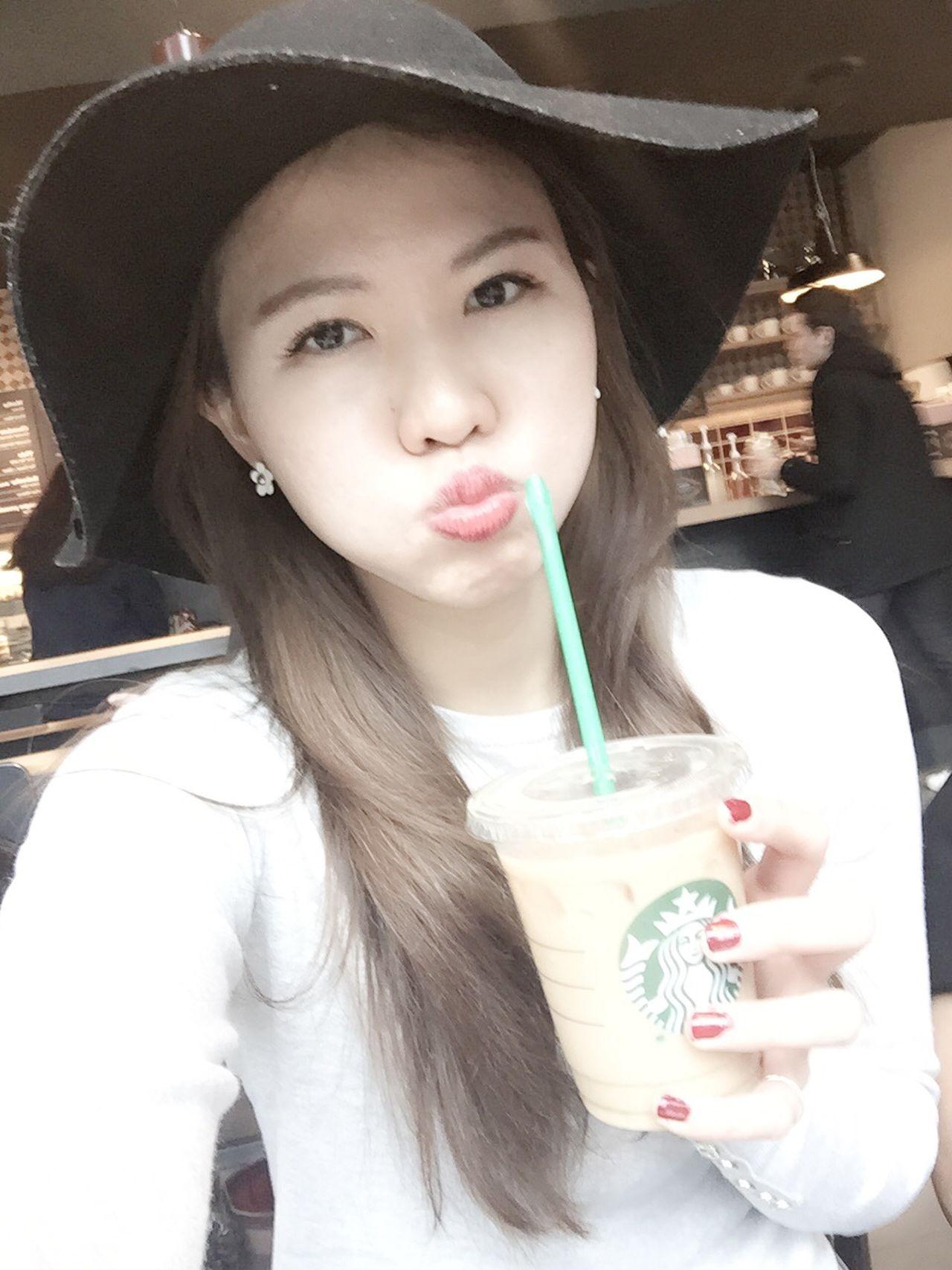 Coffee time Selfie Selfportrait Self Portrait Coffee Cappucino Good Morning Model Girl Paris Asian