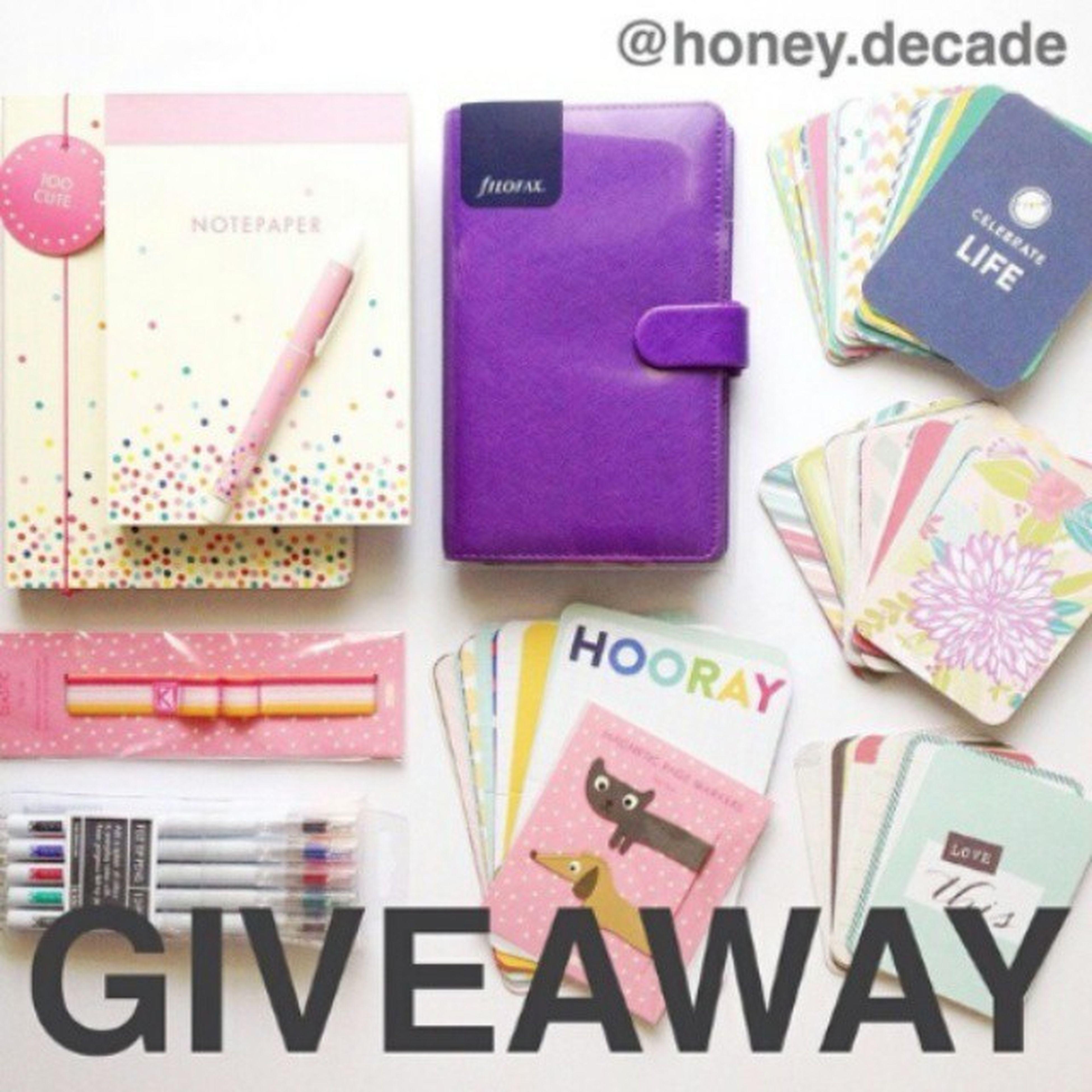 Great giveaway Honeydecadegiveaway