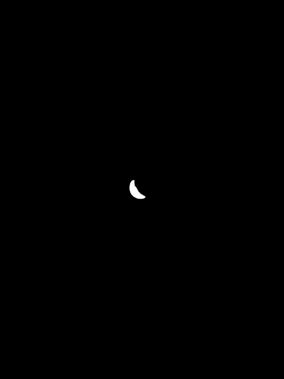 moon, astronomy, copy space, nature, night, beauty in nature, space, dark, low angle view, half moon, scenics, crescent, no people, clear sky, space exploration, sky, outdoors, solar eclipse