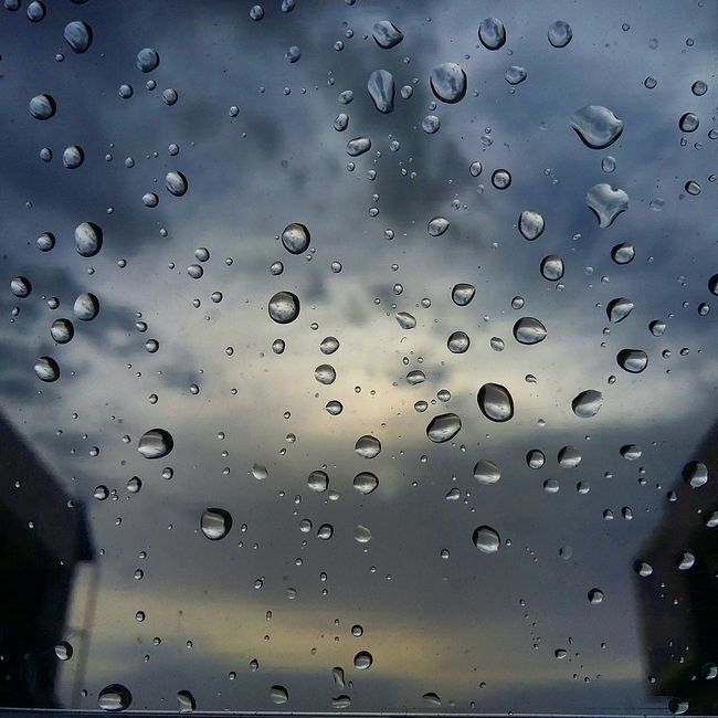 Rain Blessing Raindrops Clouds Sky Weather Cooldown Home Peace
