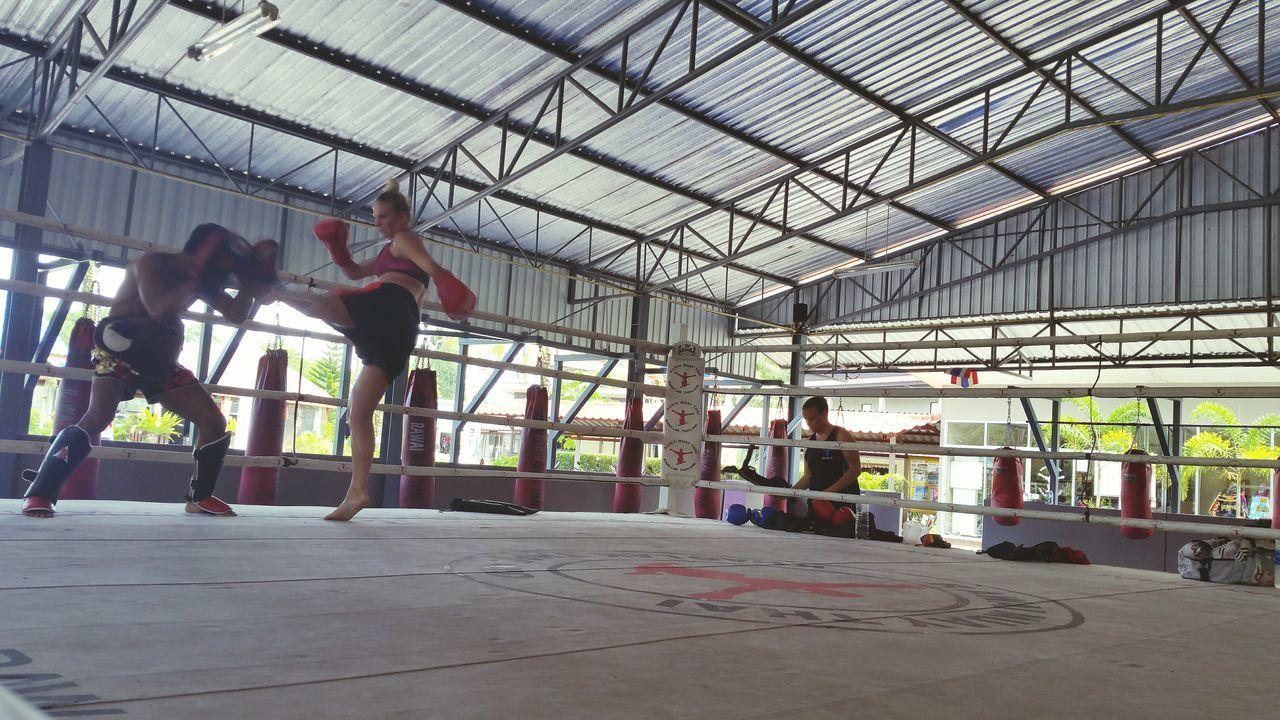 fellow Muay thai trainee at one to one sparring Rawai Muay Thai Khao Lak MuayThai