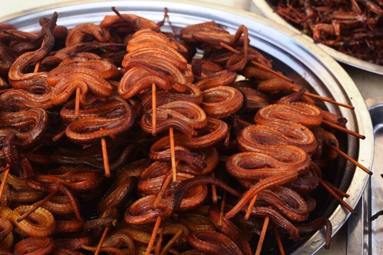 Snakes On A Stick Snake Kebab Snakes On A Plane Cambodian Market