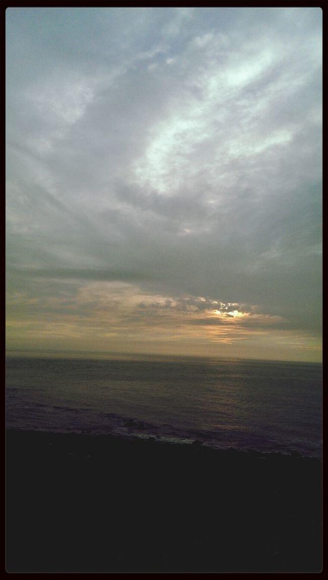 Sea And Sky Enjoying The Sun Relaxing