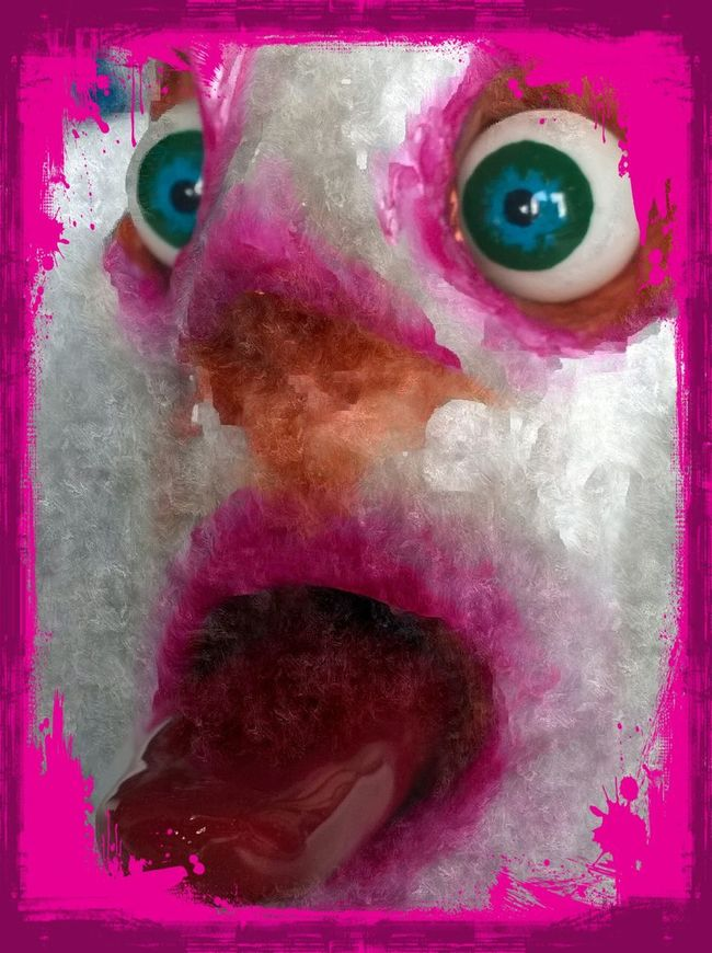 Art Pink Color Art And Craft Human Face Secret Garden Sculptures Paintings Mixed Media Portrait Painting Mixedmedia Multi Colored Extreme Close-up Art And Craft