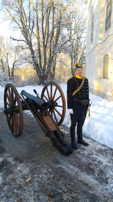Cermony Cannon No Edit/no Filter Uniform 1800s Cannon 1800's Kungsängen Livgardet Winterday Formal Clothing Oldtimes Attention