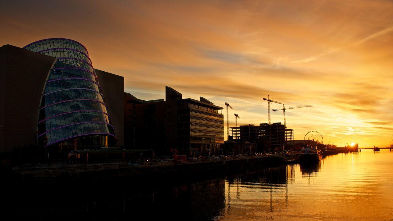 Beautiful stock photos of dublin, sunset, reflection, architecture, city