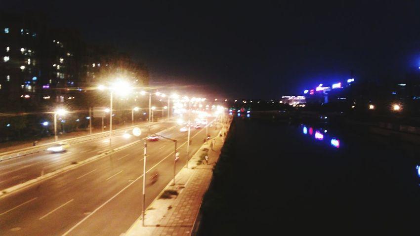 Cities At Night Taking Photos