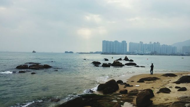 Fishing Relaxing Beach Tuenmun First Eyeem Photo