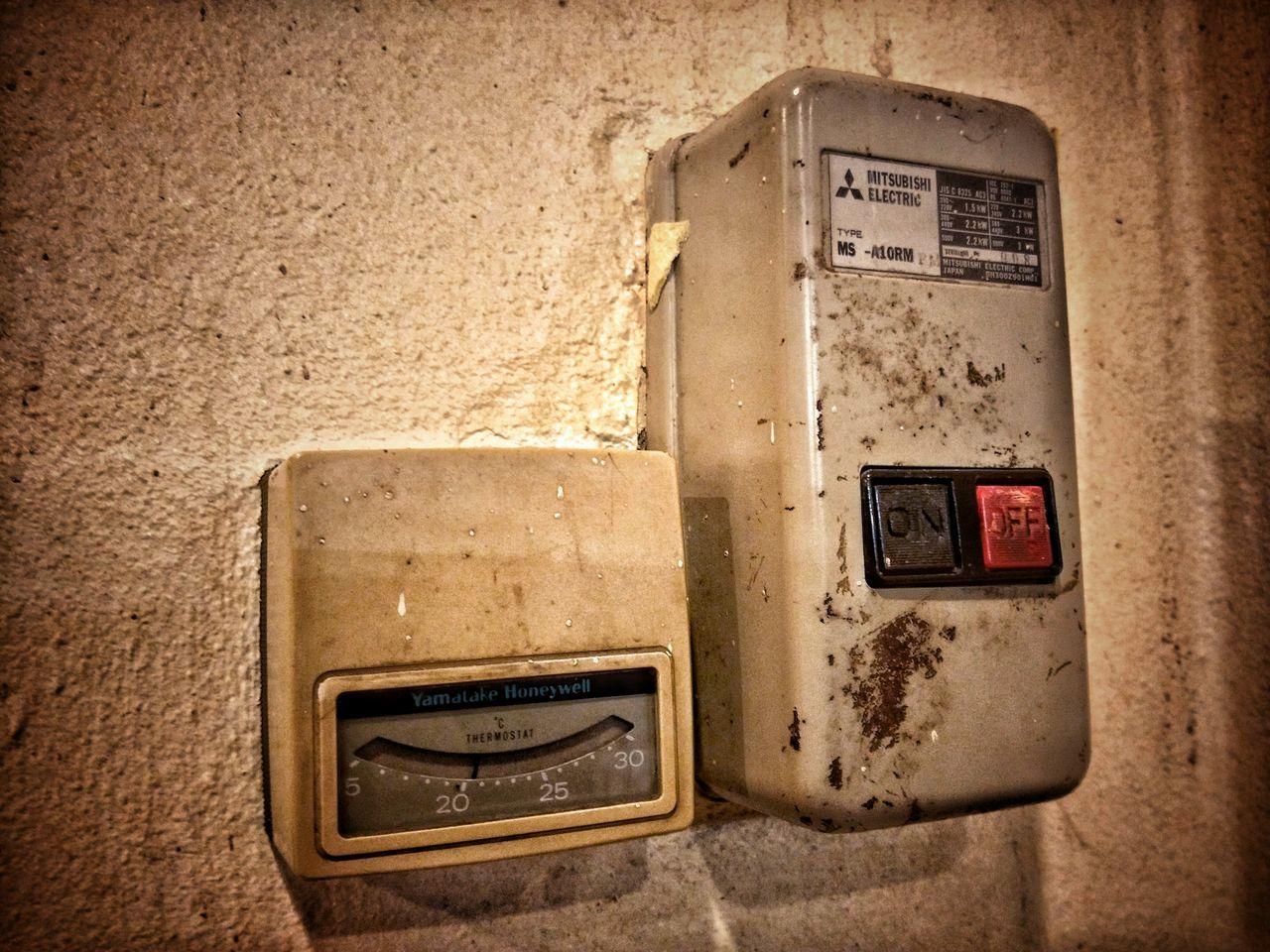 Airconditioner Old Vintage Switch
