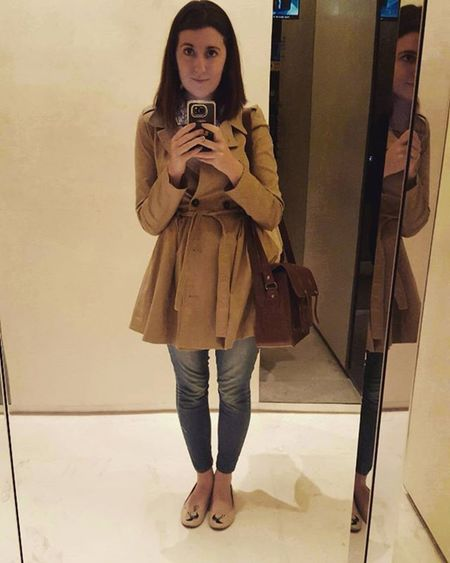 It's coat weather! Autumnishere Mac Raining Cambridgesatchel Ootd Selfie Elevatorselfie Mirrorpicture