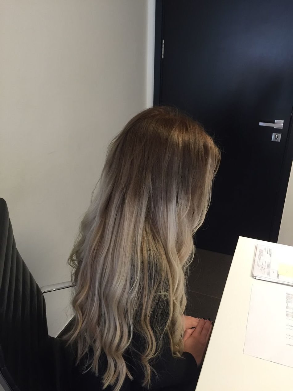 Brown To Blonde Close-up Curly Hair Day Dip Dye Hair DipDye Hair Care Hair Do Hair Style Hair Styles Hairdresser Human Hair Indoors  Long Hair Ombre Ombre Hair One Woman Only Straight Hair Summer Hair Waves Wavey Hair Womens Hair