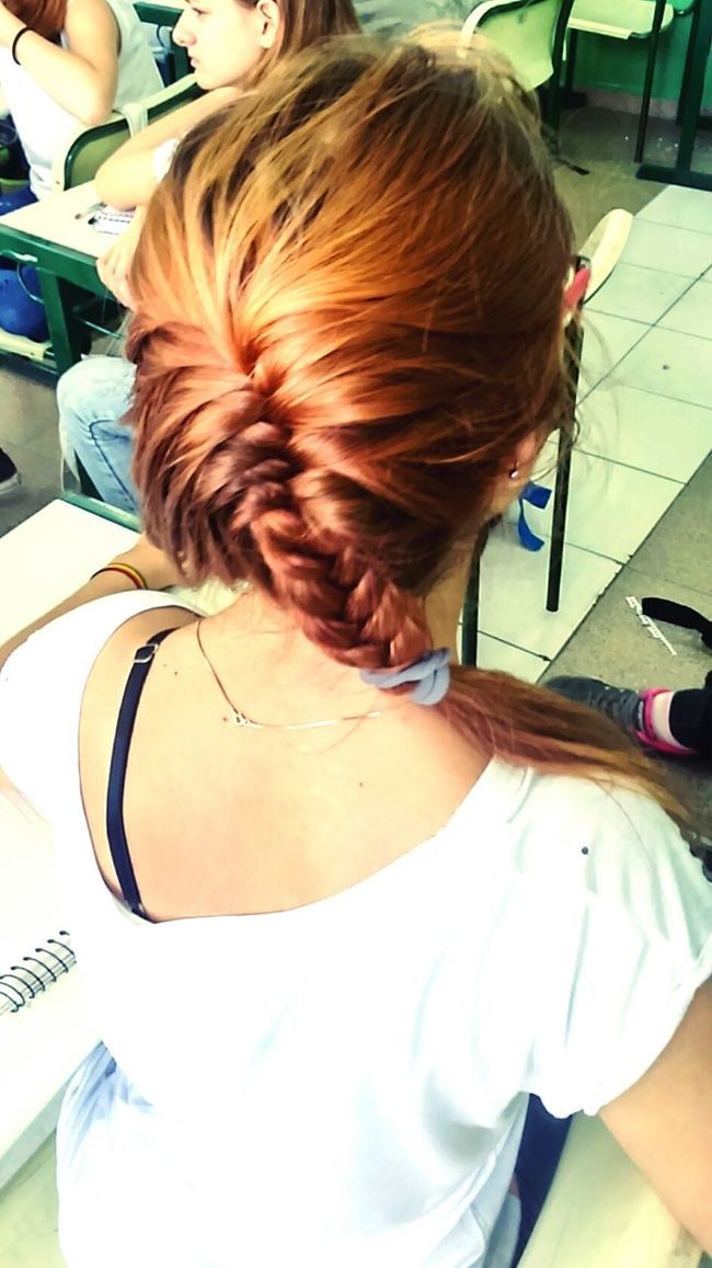Hairstyle Fashion Hair Redhair Cutehairstyle Nice Pic Cutegirl Shcool Days 📚 Goodmorning Cute Girl♥ Beutiful Day 👩👍💋