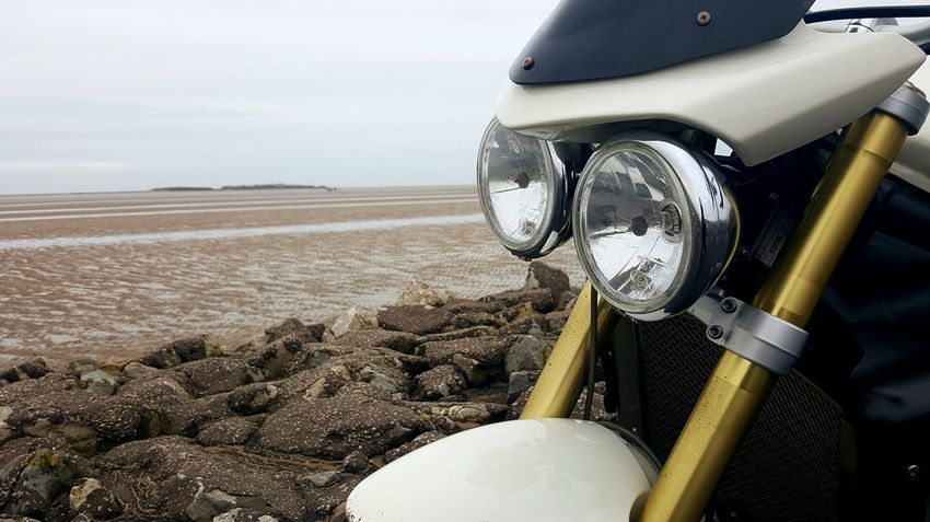 Beach Sea Outdoors No People Sand West Kirby Triumph Mobilephotography Eyeem Photography Wirral Triumph Motorcycles EyeEm Mobile Photography Samsung Galaxy S6 Edge+ Sky Wirral Peninsula Mobile Photography EyeEm Motorcycles Triumphmotorcycles Triumph Motorcycle My Baby Beachphotography Triumph Street Triple Street Triple Motorbike Motorcycles