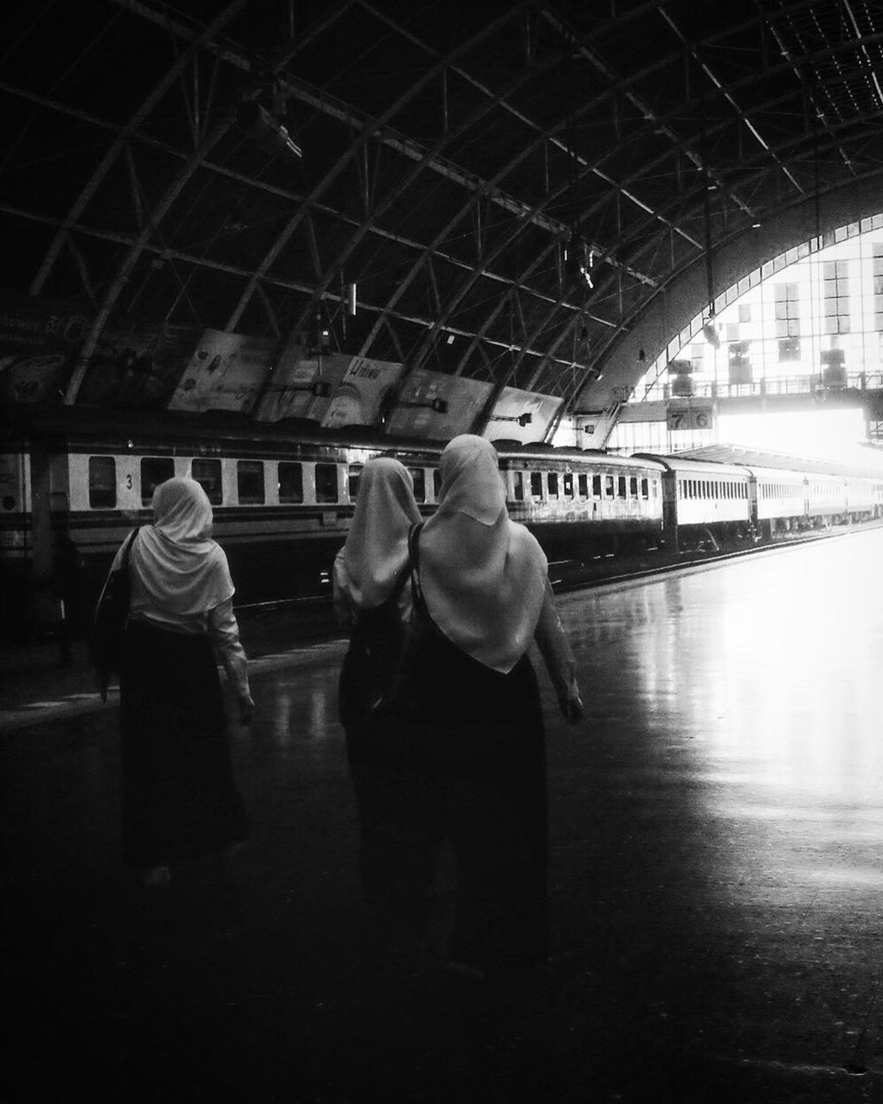 Railroad Station Bangkok Travel Bw_collection Street Photography Black And White Monochrome City
