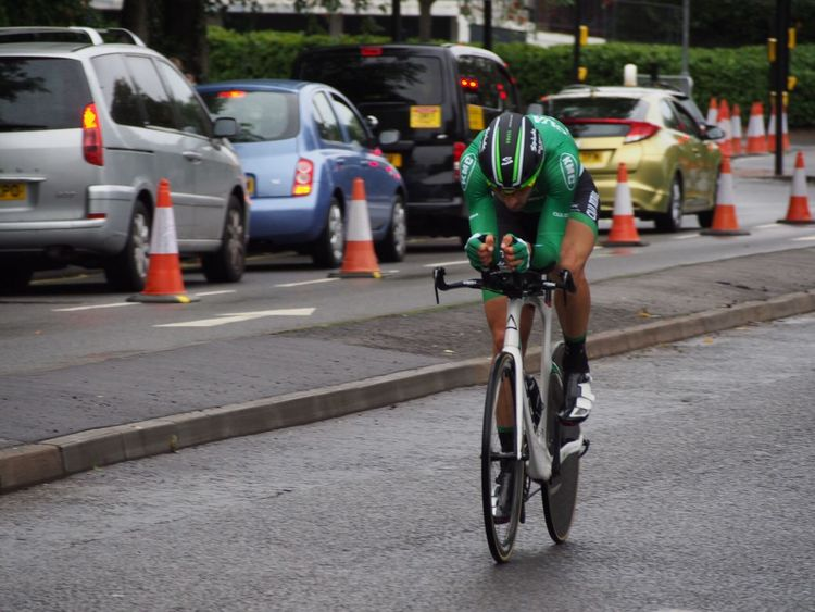 Outdoors Tour Of Britain Bristol Leisure Activity Blurred Motion Time Trialling Tob2016 Cycling Sport Time Trial On The Move Sports Spectator Speed Bicycle Caja Rural Fuji Bike