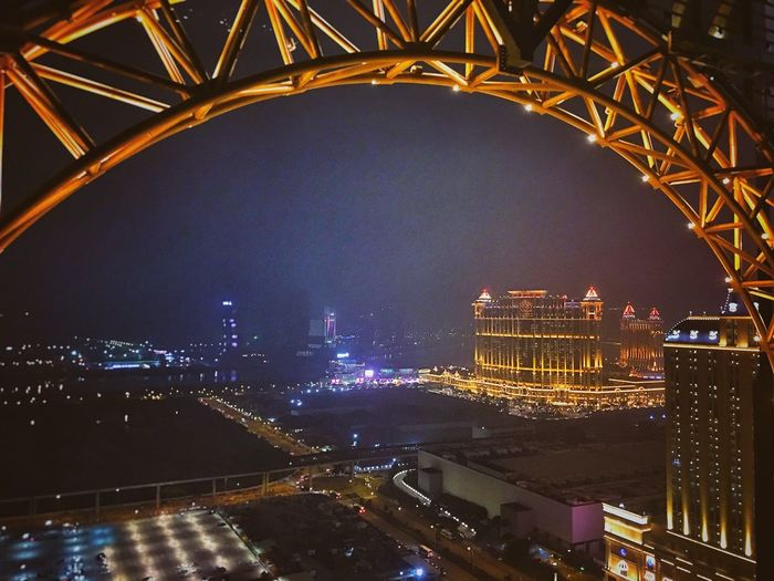 Architecture Built Structure City Illuminated Night Transportation Building Exterior Bridge - Man Made Structure Modern Cityscape Outdoors No People Skyscraper Sky