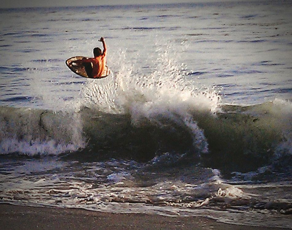 Skimboarding Life Is A Beach Waves Blasting Off Big Air
