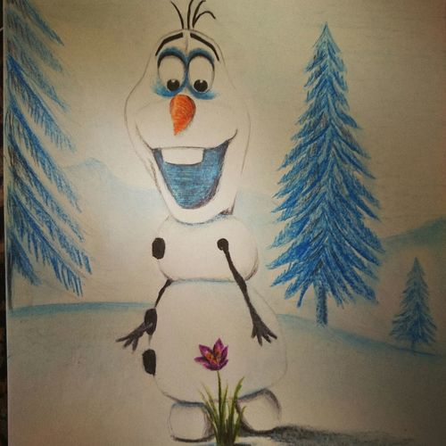 Olaf drawing with faber castle pencils My Drawing Touchtalent Art, Drawing, Creativity