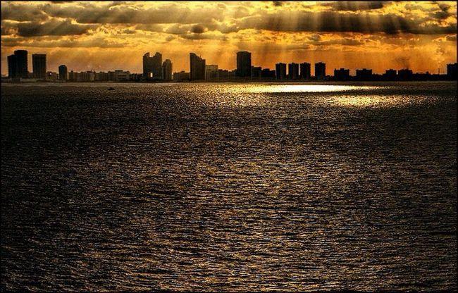 Golden. Water_collection Ocean Sunset #skyporn #cloudporn # Bestskyever #gorgeous # Beautiful #stunning Lightandshadow