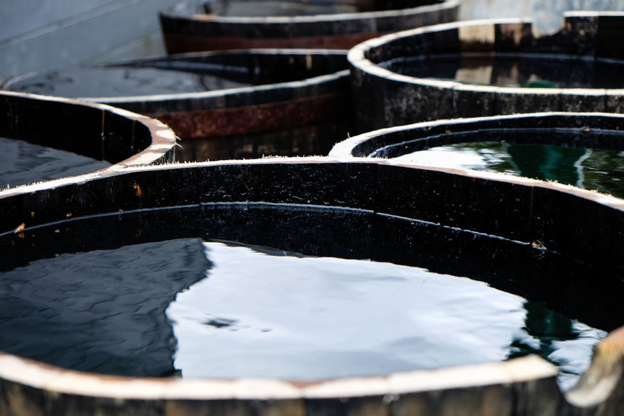 Casks Scotland Barrels Close-up Day High Angle View Nature Nautical Vessel No People Outdoors River Water