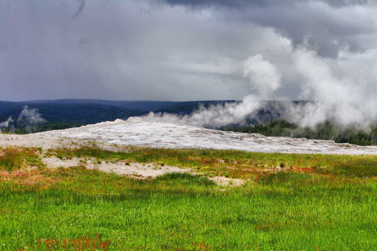 Old Faithful Is Faithful! Yellowstone National Park Old Faithful Yellowstone National Park Yellowstone Nature Nature Photography Geyser Landscape_photography Landscape