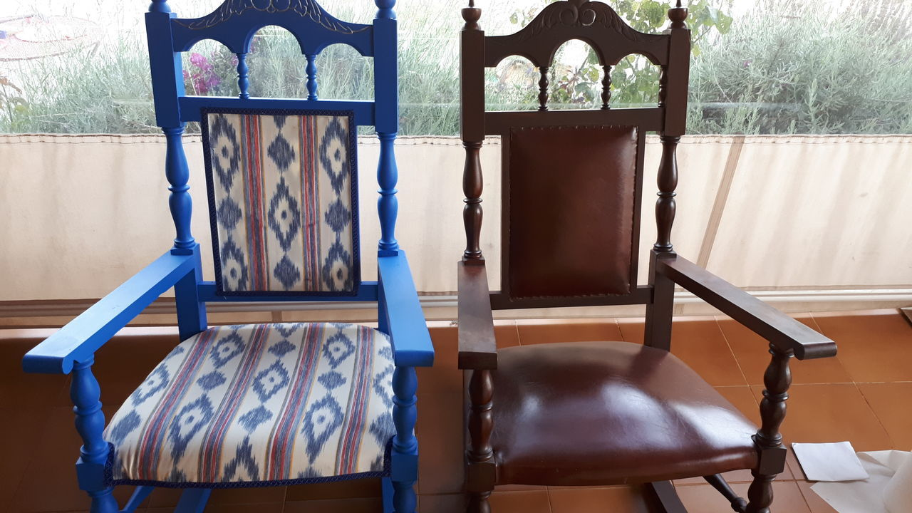 EyeEm Selects Chair Rocking Chairs Old And New Furniture Photography Blues