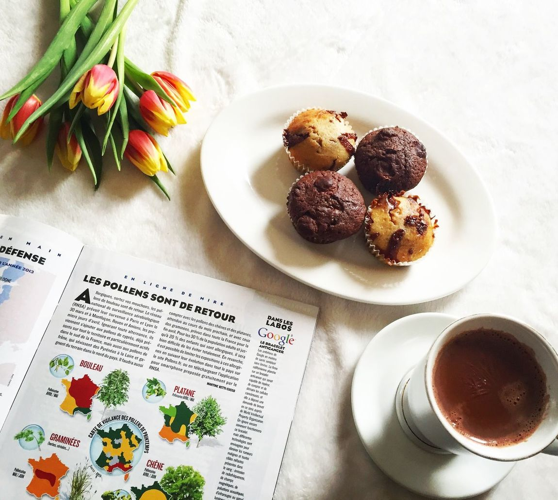 Muffin Cupcakes Hotchocolate Le Figaro Magazine Chocolate Winter Hiver Tulips Flowers