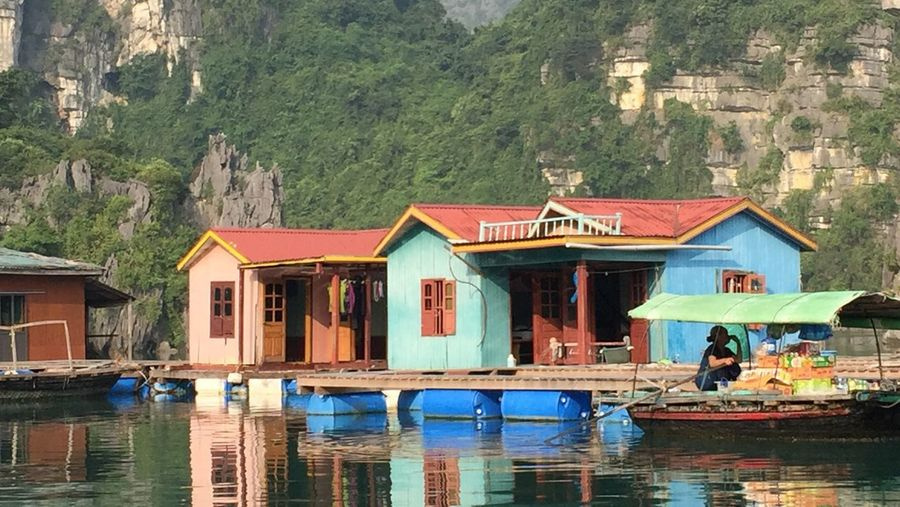Architecture Water Built Structure Building Exterior Day Nautical Vessel House Real People Outdoors Waterfront Stilt House Nature Leisure Activity Travel Destinations Women Lake Lifestyles Men Vacations One Person Floating House