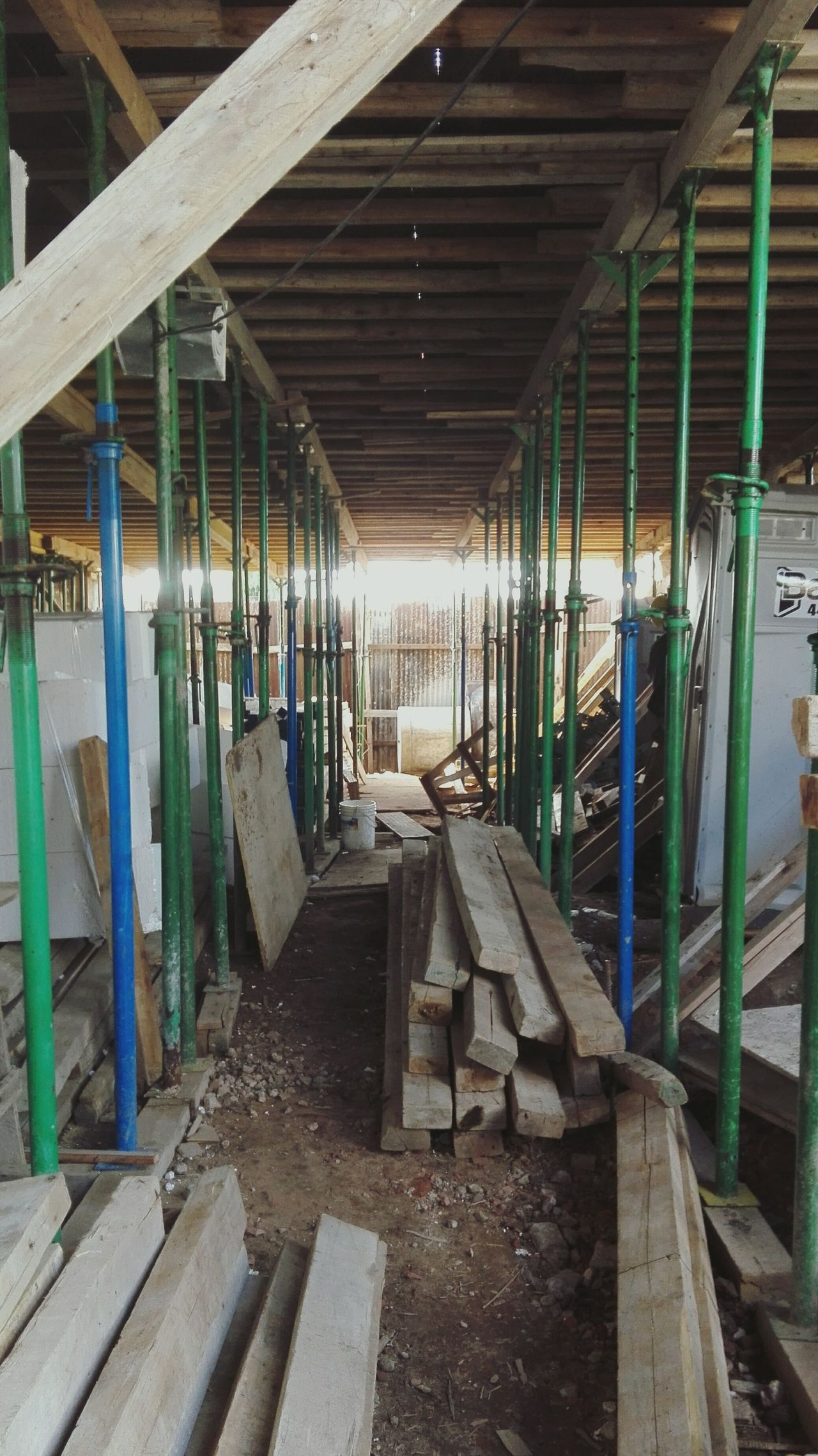 No People Built Structure The Way Forward Indoors  Construction Site Construction Construction Work Green Day