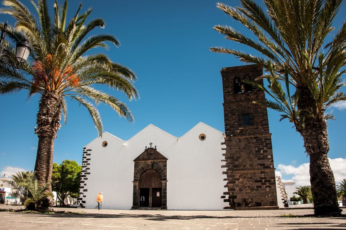 Fuerteventura Canary Islands Traveling Travel Photography Church Christianity Traditional La Oliva Palms Religion Religious Architecture