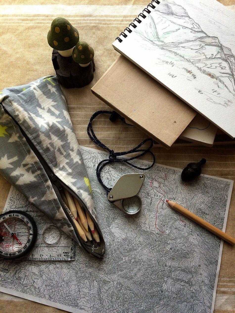 Beautiful stock photos of map, Book, Camp Kit, Close-Up, Compass