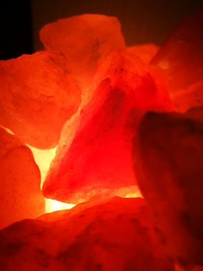 Warm Colours Glowing Close-up Halite HuaweiP9 Minerals Heat No Filters Or Effects Hot Coals Salt Lamp