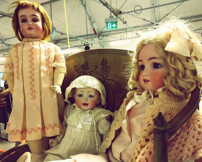 Flea Markets Flea Market Finds Vintage Dolls Creepy Face Creepy Doll Curly Hair Blonde Hair Frilly Dresses