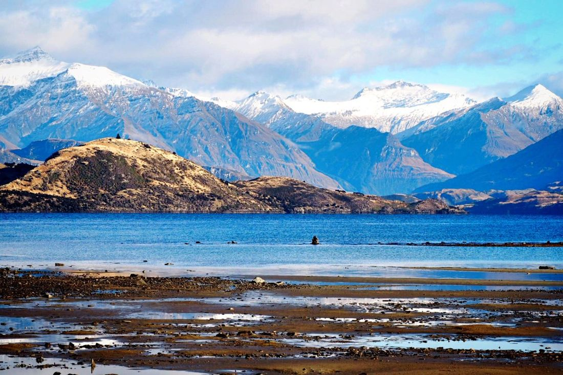 Snowcapped Mountain Lake Wanaka Wanakalake Wanaka New Zealand Blue Blue Sky Mountain Beauty In Nature Mountain Range Tranquil Scene Autumn Morning Peaceful Cold Temperature Range Scenics Travel Destination South Island South Island New Zealand Road Trip Lakeshore Lake View Clear Sky Blue Lagoon Tranquility The Great Outdoors - 2017 EyeEm Awards