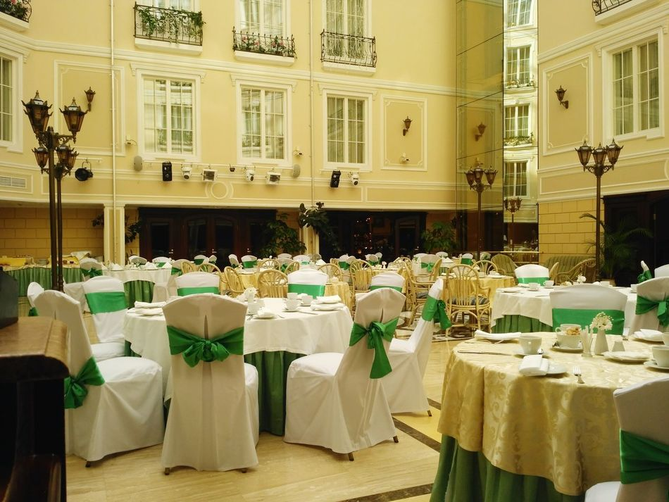 Table Luxury Hotel Restoran Work Workplace Morning No People Spb