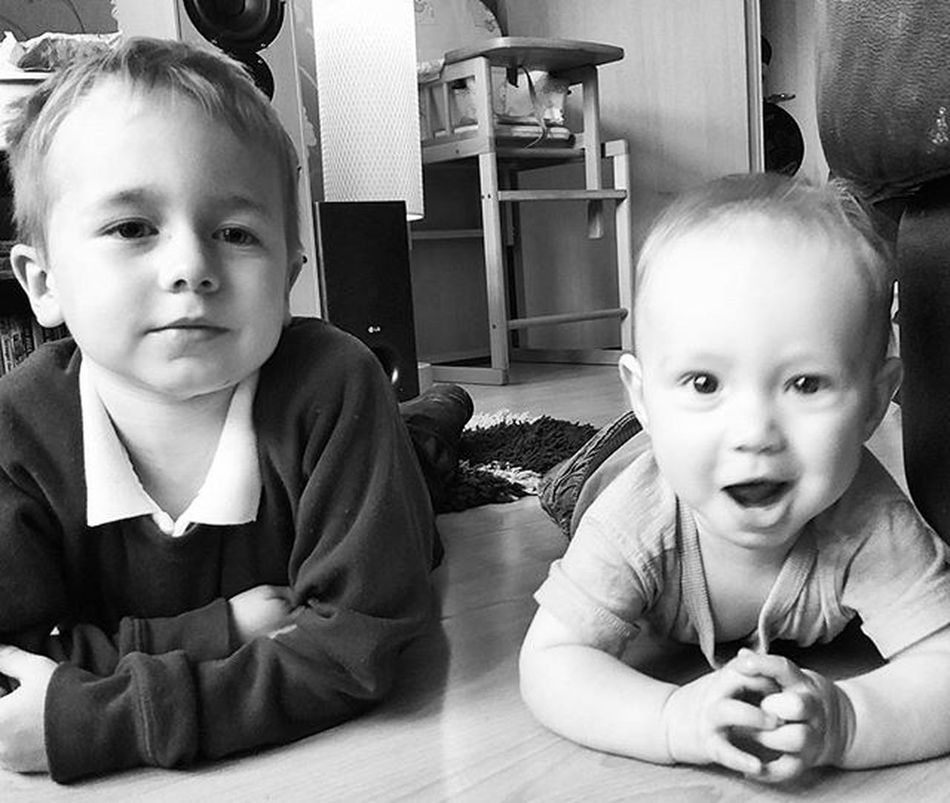 Sons Brothers Blackandwhite Brotherlylove Morning Happyboys Readyforschoolrun Photo LoveThem