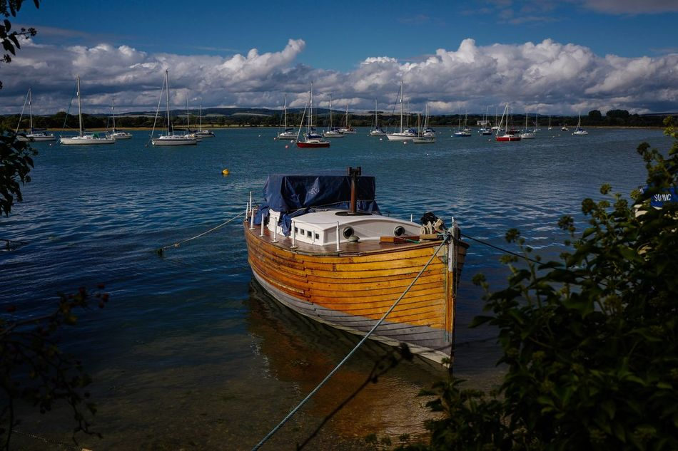 Nautical Vessel Transportation Water Cloud Boat Sky Mode Of Transport Waterfront Day Tranquility Nature Tranquil Scene Sea No People Scenics Cloud - Sky Non-urban Scene Beauty In Nature Chichester Harbour