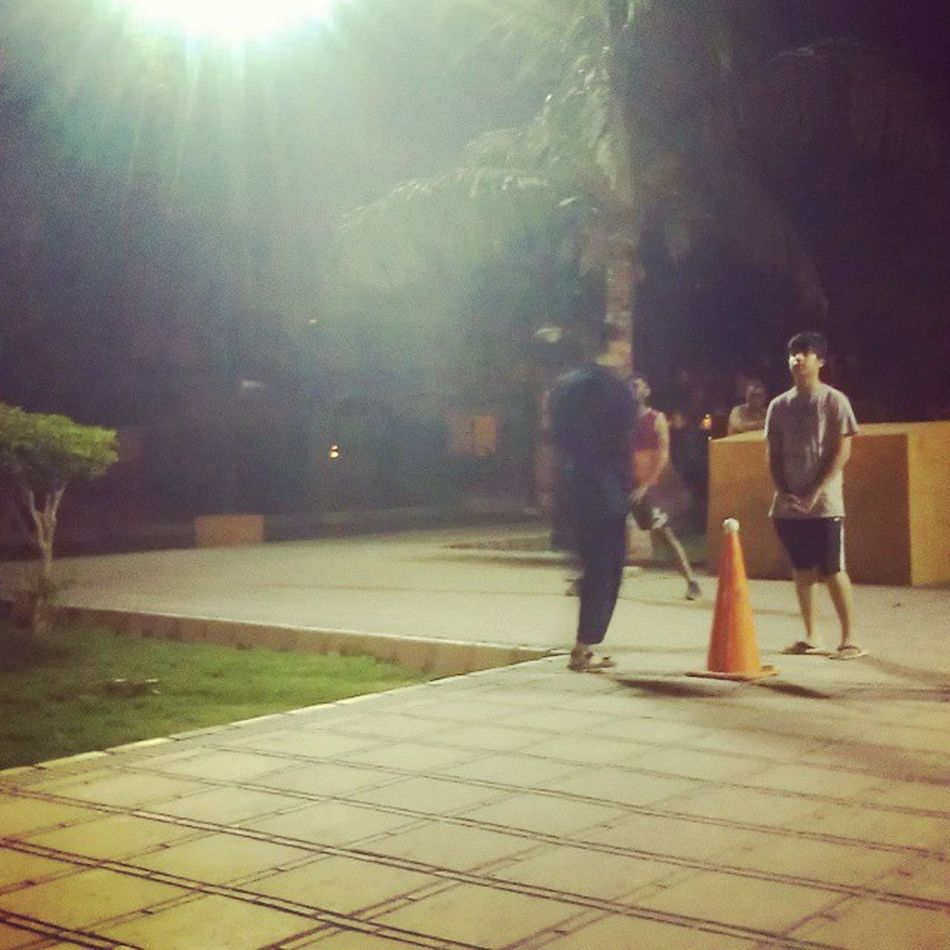 Playing Cricket with my Friend at Park LateNightMatch Yahooo EnjoyingwithfriendsAtPark Awesome Day Shahzainkm
