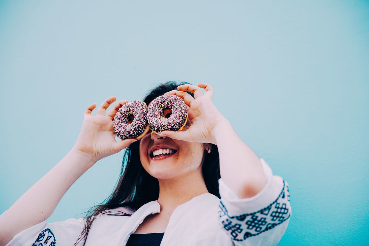 Color Colorful Donut Food Fun Happiness Happy Smile Woman Women Around The World