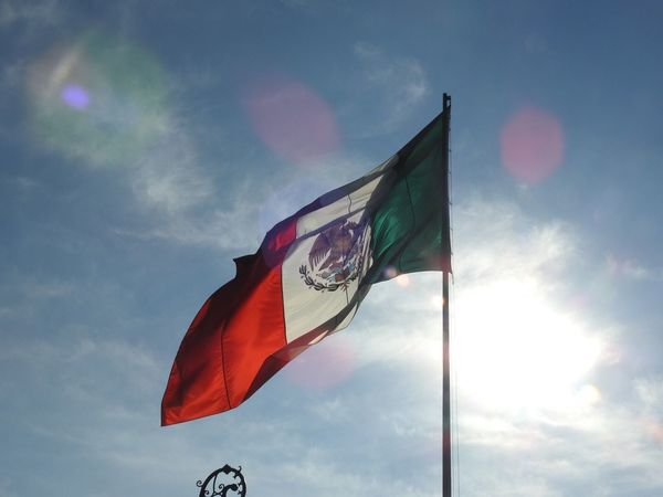 Castillo De Chapultepec Me Flag Patriotism Pride Waving Sky Wind Cloud - Sky Low Angle View Day Outdoors No People