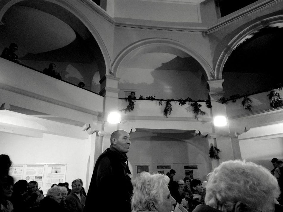 Indoors  People Church Interior Church At Night  Christmastime Old Man Illuminated Arts Culture And Entertainment Adults Only Adult Day