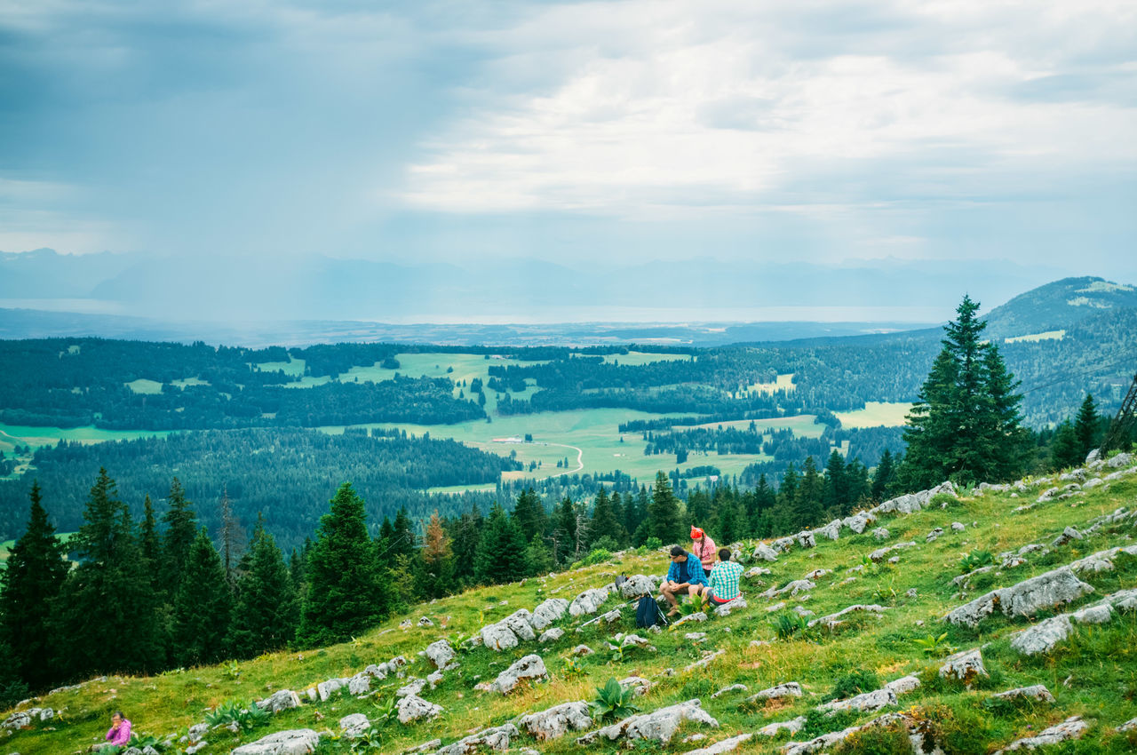 Beauty In Nature Day Hikers Hiking Landscape Lausanne Mountain Mountain Range Nature Outdoors People Scenics Sky Swiss Alps Swiss Mountains Switzerland Tourism Tranquility Tree
