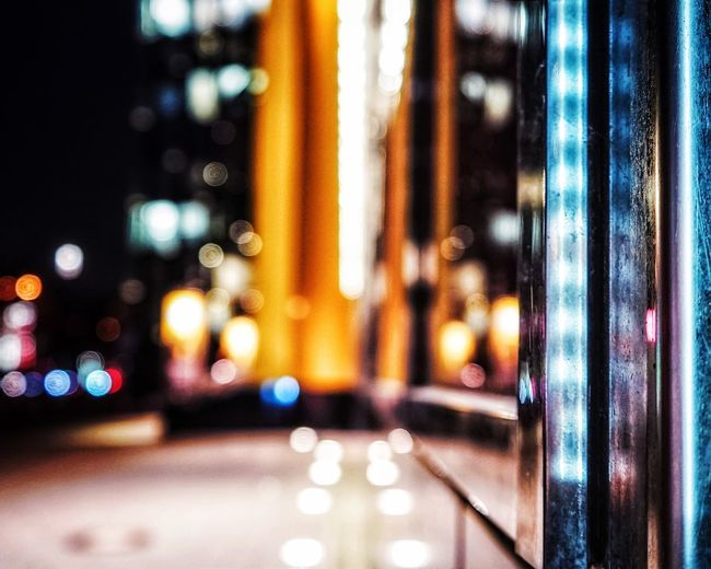 Bokeh Blurred Lines Night Lights Reeperbahn  Bokeh Photography Illuminated Night No People Architecture Multi Colored Indoors  Close-up Defocused Built Structure