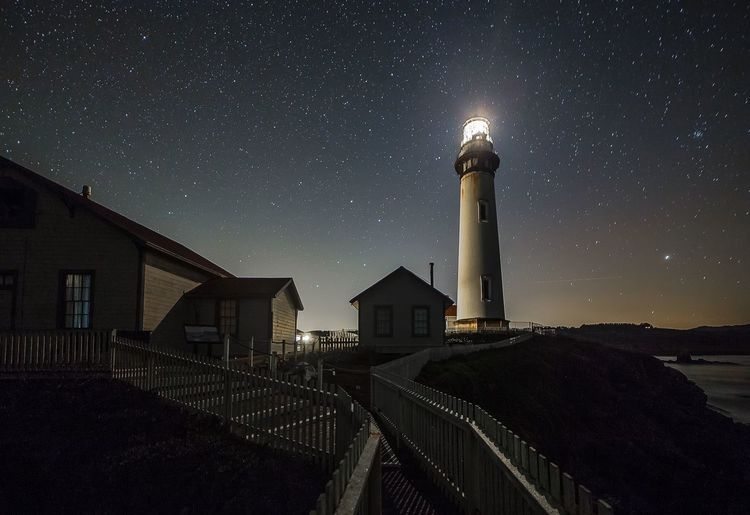 Pigeon Point Lighthouse on Hwy 1 CA. Check This Out Youcantflickwithus Nightphotography Long Exposure Taking Photos Sh00tr74 Stars Lighthouse