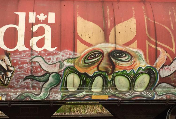 Rail car graffiti. Railroad Train Freight Graffiti Art Duluth